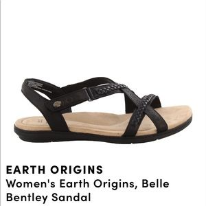 Earth Origins Belle Bentley Black Sandal 9.5M New
